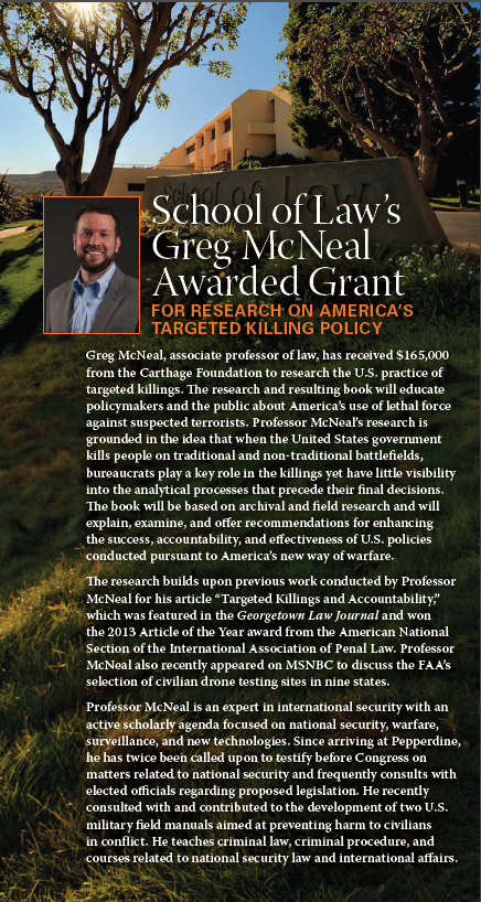 Greg McNeal Research Grant