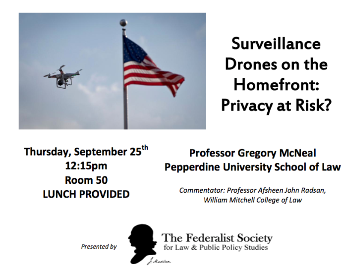 Surveillance Drones On The Homefront - Privacy At Risk? featuring drone expert Professor Gregory S. McNeal