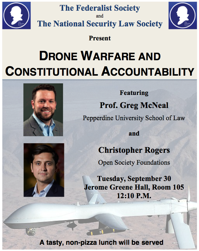 Drone Warfare and Accountability with drone expert Professor Gregory McNeal